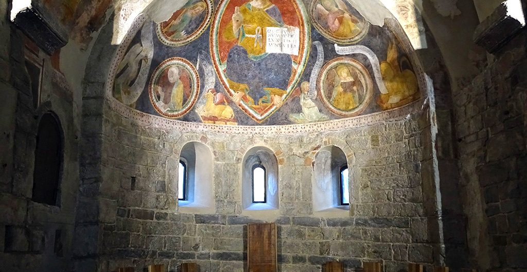 Chiesa S. Egidio di Fontanella, presiterio ed abside