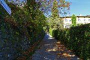 La via panoramica David Maria Turoldo inizia con una ripida strada cementata